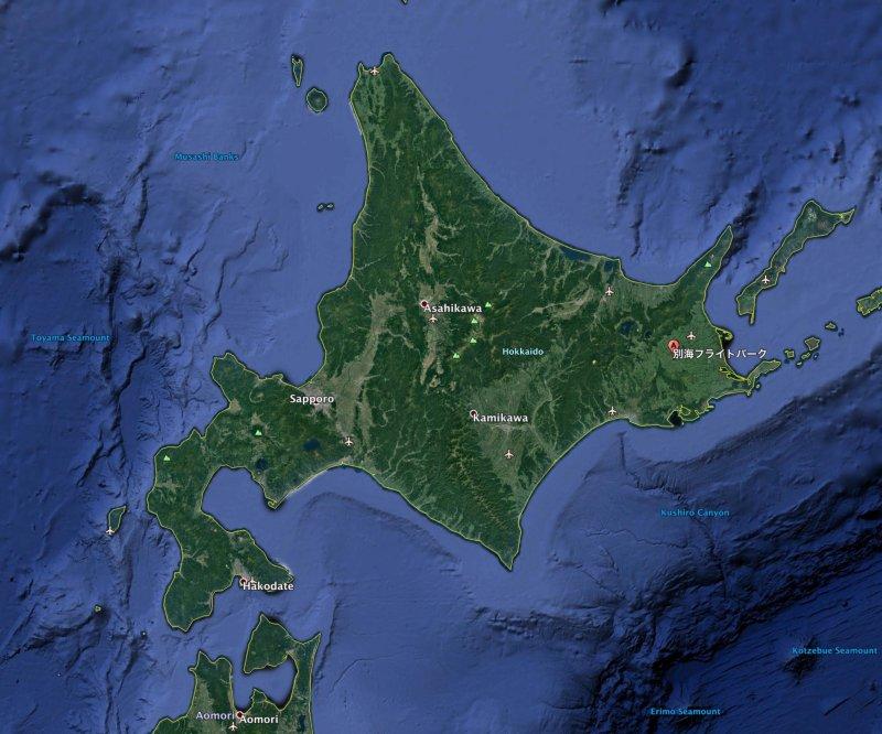 Bekkai Flight Park map